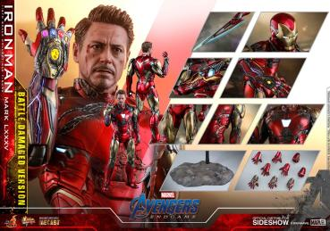 Avengers: Endgame MMS Diecast Actionfigur 1/6 Iron Man Mark LXXXV Battle Damaged Ver. 32 cm