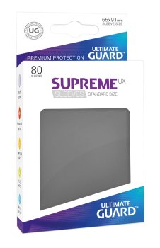 Ultimate Guard Supreme UX Sleeves Standardgröße Dunkelgrau (80)