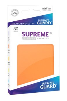 Ultimate Guard Supreme UX Sleeves Standardgröße Orange (80)