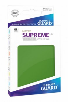 Ultimate Guard Supreme UX Sleeves Standardgröße Matt Grün (80)