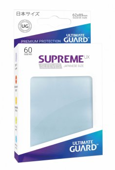 Ultimate Guard Supreme UX Sleeves Japanische Größe Transparent (60)