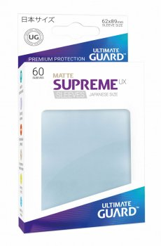 Ultimate Guard Supreme UX Sleeves Japanische Größe Matt Transparent (60)