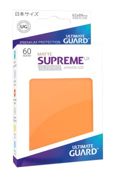 Ultimate Guard Supreme UX Sleeves Japanische Größe Matt Orange (60)