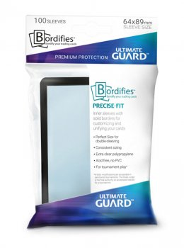 Ultimate Guard Bordifies™ Precise-Fit Sleeves Standardgröße Schwarz (100)