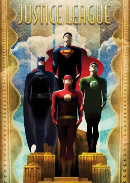 DC Comics Metall-Poster Justice League Retro Idols 10 x 14 cm
