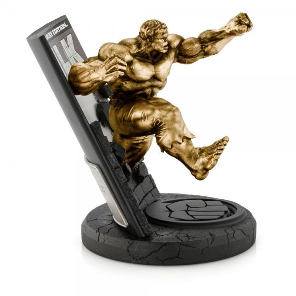 Marvel Pewter Collectible Statue Hulk Gilded Finish Limited Edition 22 cm
