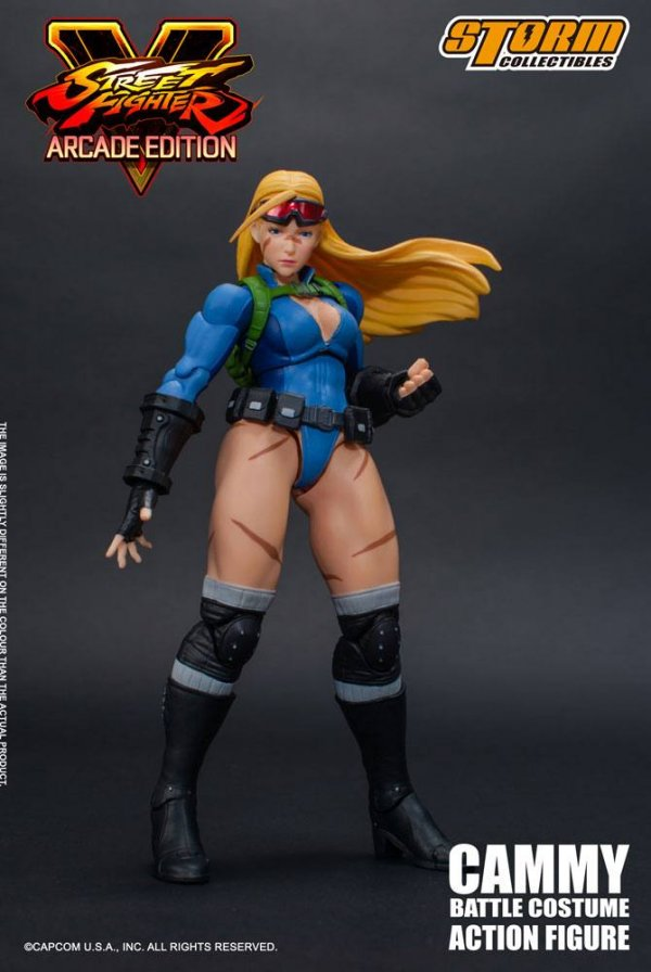 Street Fighter V Arcade Edition Actionfigur 1/12 Cammy Battle Costume 15 cm