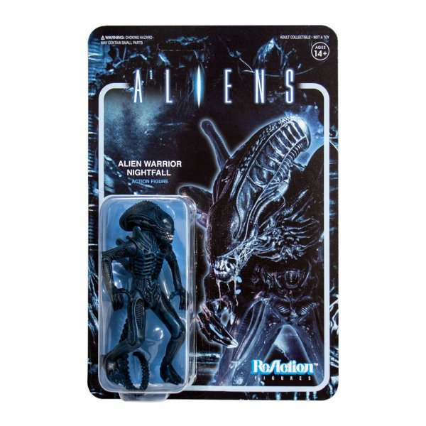 Aliens ReAction Actionfigur Wave 1 Alien Warrior Nightfall Blue 10 cm