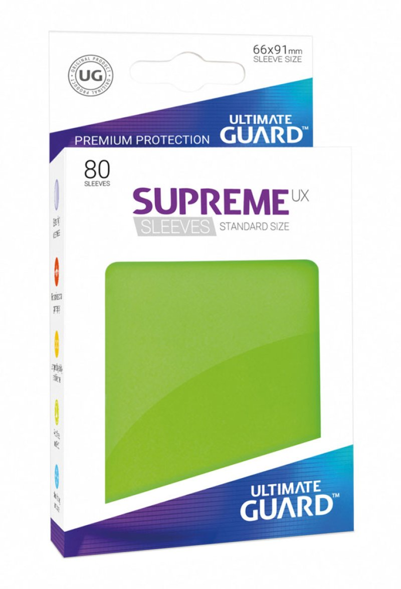 Ultimate Guard Supreme UX Sleeves Standardgröße Hellgrün (80)