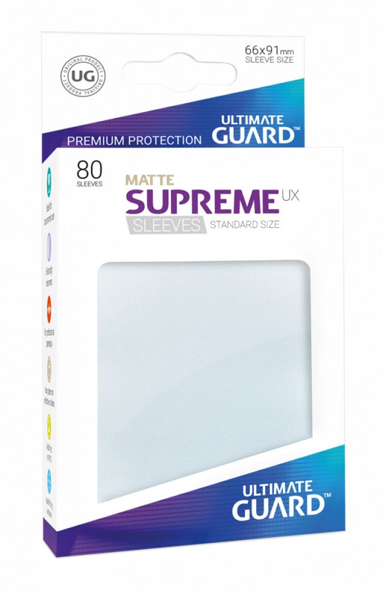 Ultimate Guard Supreme UX Sleeves Standardgröße Matt Frosted (80)